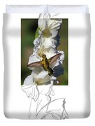 Ruby-throated Hummingbird 2am-104192 Duvet Cover
