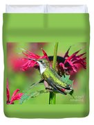 Ruby Throated Hummingbird Female Duvet Cover