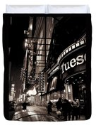 Ruby Tuesday's Times Square - New York At Night Duvet Cover