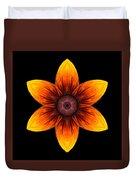Rudbeckia I Flower Mandala Duvet Cover