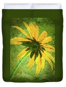 Rudbeckia On Cement Duvet Cover