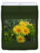 Rudbeckias With Green Centers Duvet Cover