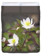 Rue Anemone Wildflower - Pale Pink - Thalictrum Thalictroides Duvet Cover