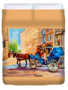 Rue Notre Dame Caleche Ride Duvet Cover