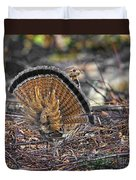 Ruffed Grouse Rear Strut Duvet Cover