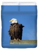 Ruffled Eagle Duvet Cover