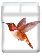 Rufous Hummingbird Duvet Cover by Amy Kirkpatrick