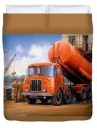 Rugby Cement Thornycroft. Duvet Cover by Mike  Jeffries