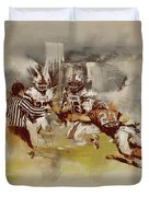Rugby Duvet Cover by Corporate Art Task Force