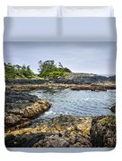 Rugged Coast Of Pacific Ocean On Vancouver Island Duvet Cover
