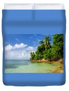 Rugged Lush Green Coastline Duvet Cover
