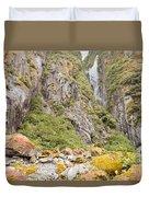 Rugged Mountain Wilderness Vegetation Duvet Cover