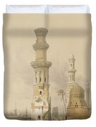 Ruined Mosques In The Desert Duvet Cover by David Roberts
