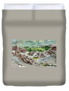 Ruins At Basgo Monastery Ladakh India Duvet Cover