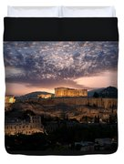 Ruins Of A Temple, Athens, Attica Duvet Cover