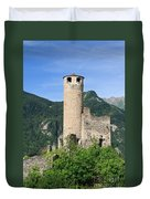 ruins of Chatelard castle Duvet Cover