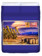 Ruins Of Fort James B. Polka And Prototype Gatling Tubas Duvet Cover