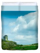 Ruins Of Irish Castle Duvet Cover