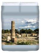 Ruins Of Paestum Duvet Cover