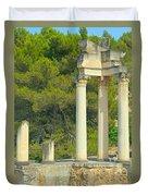 Ruins Of Roman Columns In Glanum  Duvet Cover