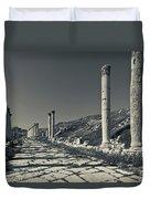 Ruins Of Roman-era Columns Duvet Cover