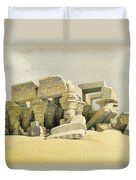 Ruins Of The Temple Of Kom Ombo Duvet Cover by David Roberts