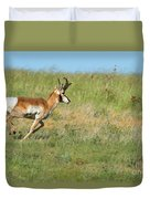 Run  Light Buck  Run Duvet Cover