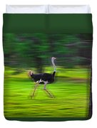 Run Ostrich Duvet Cover