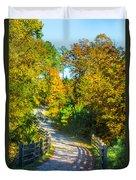 Runner's Path In Autumn Duvet Cover