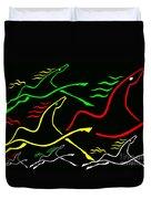 Runnin Horses Duvet Cover