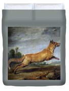 Running Fox Duvet Cover