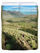 Running In Esquel, Chubut, Argentina Duvet Cover