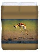 Running Springbok Jumping High Duvet Cover