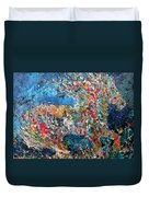 Running Stallion - Oil Portrait Duvet Cover