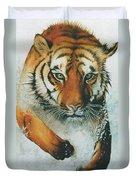 Running Tiger Duvet Cover