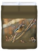 Runway Clear For Takeoff   Redbreasted Nuthatch Duvet Cover