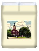 Rural Church Usa Duvet Cover