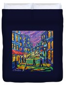 Rural City Scape By Prankearts Duvet Cover