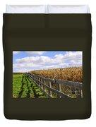 Rural Landscape With Fence Duvet Cover