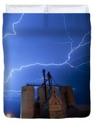 Rural Lightning Storm Duvet Cover