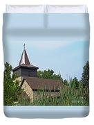 Rural Roadside Church Duvet Cover