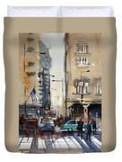 Rush Hour - Chicago Duvet Cover