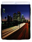 Rush Hour Harbor Freeway Los Angeles Ca Duvet Cover