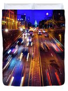 Rush Hour Traffic On North Capitol Show Duvet Cover