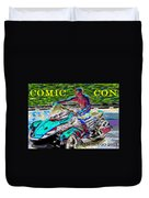 Rushing To Comic Con Duvet Cover