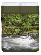 Rushing Water At Cedar Creek Washington State Duvet Cover