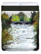 Rushing Water - Quiet Thoughts Duvet Cover