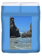 Rushing Wave - Big Sur Duvet Cover