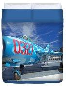 Russian Aircraft Mig At Interpid Museum Duvet Cover