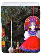 Russian Christmas Tree Decoration In Fredrick Meijer Gardens And Sculpture Park In Grand Rapids-mi Duvet Cover